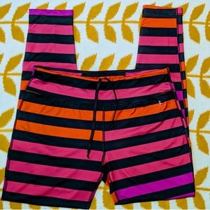 Bright Striped Workout Leggings